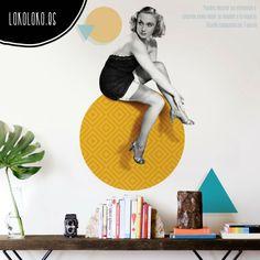 #ViniloDecorativo de estilo vintage con elementos geométricos / #WallSticker #WallDecals #VinilosDecorativos