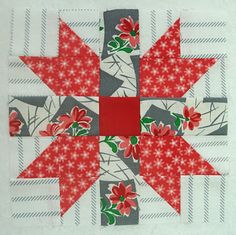 Butterfly at the Crossroads - would make a good Christmas  block