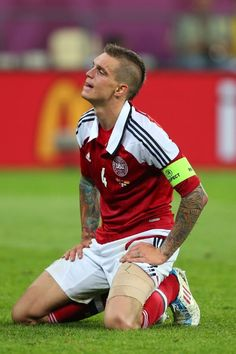 Agger looking deflated - Euro 2012 in Pictures.