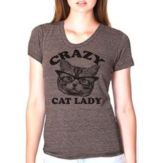 Cat Lady Tee Women's Coffee, $21, now featured on Fab.