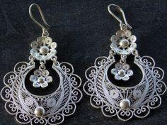 Handmade Sterling Silver Filigree Earrings made in Chrodeleg #Ecuador www.graylineecuador.com