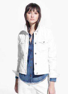 White denim jacket   MANGO