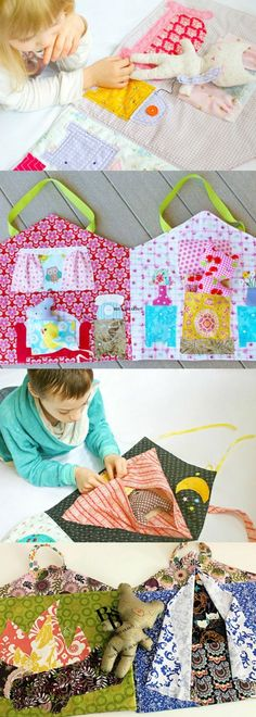 Dolls House Quiet Book pattern. 5 different options for the rooms. Perfect for any girl or boy! #quietbook #affiliatelink