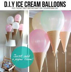 sorvetes de balões