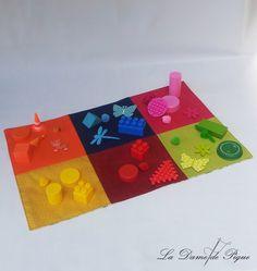 Tapis sensoriel des couleurs - pédagogie Montessori : Jeux, peluches, doudous par ladamedepique