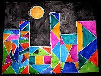 Holly's Arts and Crafts Corner: Art Project Paul Klee Castle Kids Art Class, Art Lessons For Kids, Art Lessons Elementary, Art Kids, 3rd Grade Art Lesson, Paul Klee Art, Polygon Art, Ecole Art, Math Art