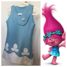 Trolls Poppy dress - Vestito di carnevale da bambina di Poppy
