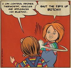 Chucky Horror Movie, Horror Movie Characters, Horror Movies, Horror Art, Tag Art, Kids Playing, Memes, Children, Artwork