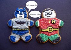 More Superhero cookies!
