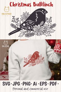 Christmas Bullfinch SVG mini set, Christmas Bird Decor Cut File Perfect for many DIY projects, greeting cards and invitations, blogs, product and textile design, Decals Shirts, Bags, Mugs etc.#owlcottagestudio, #owlcottagesvg, #owlcottage, #christmasbirdsvg, #winterholidayssvg, #christmasbullfinchsvg, #christmassvg, #xmasdecor, #winterholidaysdecor, #bullfinchsvg, #christmasdecorationssvg, #christmasbird Christmas Bird, Christmas Quotes, Christmas Crafts, Free Printable Clip Art, How To Make Planner, Bullfinch, Vinyl Shirts, Xmas Decorations, Diy Craft Projects