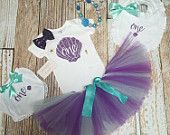 Baby Girl First Birthday Outfit / First Birthday Outfit Baby Girl / Mermaid birthday / Under the sea birthday outfit  / Mermaid Birthday out