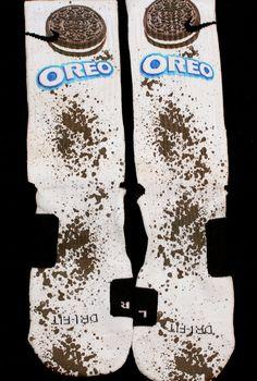 Oreo Inspired Custom Nike Elite Socks by KristinAnnBoutique