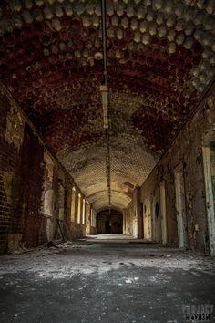 St Johns Asylum aka The Lincolnshire County Pauper Lunatic Asylum Corridor. Lincolnshire, England.