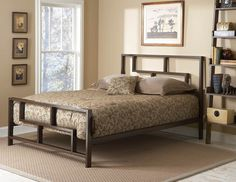 FGB Brooklyn Platform Bed $279 I love the cutouts in the head&foot boards. Our bedroom is small so we want something that won't overwhelm the space.