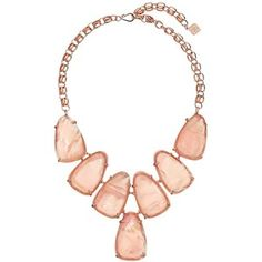 Kendra Scott Harlow Necklace (Rose Gold/Peach Illusion) Necklace