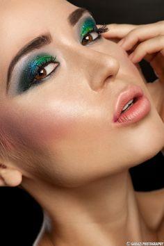 Glitter eyeshadow - Make-up look