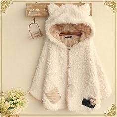 Japanese cute ears hooded jacket