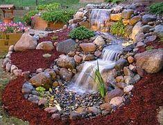 Garden pond waterfall (11)