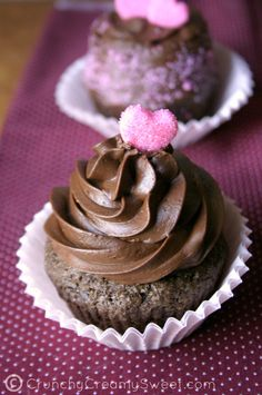 best chocolate cupcakes for two | Crunchy Creamy Sweet