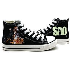 4f1dc21e628 Amazon.com  SAO Sword Art Online Cosplay Shoes Canvas Shoes Sneakers   Sports   Outdoors