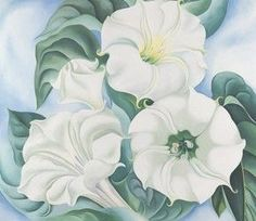 "Gerogia O'Keeffe (American, 1887-1986), ""Jimson Weed,"" 1936; Indianapolis Museum of Art, Gift of Eli Lilly and Company, 1997.131; © The Georgia O'Keeffe Foundation / Artists Rights Society (ARS), New York."