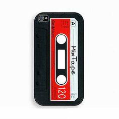Black Vintage Cassette iPhone Case 4 & 4s Mixtape by GoldPrinter, $14.00