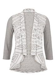 contrast pattern open front cardigan - maurices.com