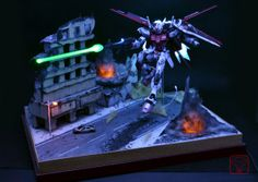Strike rouge LED diorama