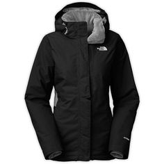 The North Face Women's Inlux Insulated Jacket (106.050 CRC) ❤ liked on Polyvore featuring activewear, activewear jackets, tnf black, tail activewear and the north face