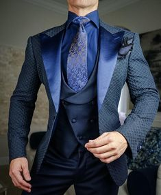Sebastian Cruz Couture Want to get OFF? Simply add 5 items to your cart. Mens Casual Suits, Mens Fashion Suits, Fashion Wear, Mens Suits, Formal Jackets For Men, Stylish Jackets, Stylish Men, Blazer Outfits Men, Designer Suits For Men