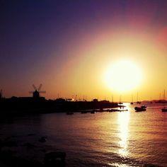 """@simonshenker's photo: """"#sunset over #SanAntonio bay"""""""