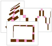 Pink Tower & Broad Stair Pattern Cards - Set 2