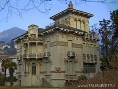 CERNOBBIO - Villa Bernasconi 1905, progettata da Alfredo Campanini | www.italialiberty.it