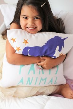 Party Animal Unicorn Pillow - Project Nursery