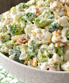 9. Sweet Broccoli Cauliflower Salad