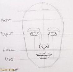 Wie zeichnet man Faces für Anfänger - SIMPLE | RapidFireArt