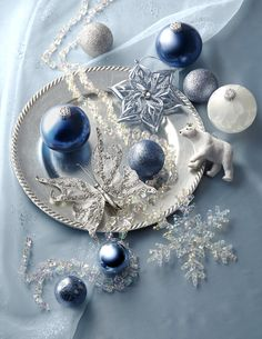 Ornaments from my Midnight Clear Christmas tree trim kit. You'll have everything you need.