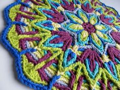 crocheted mandala pattern