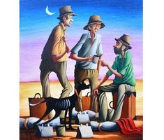 Painting by Max Mannix: All Ears. Short bush story of droving west of Quilpie by Mulga Pete. It's in January West of Quilpie. Desert Sun, Australian Artists, Beautiful Paintings, Beast, Studios, January, Decor Ideas, Horses, Hot