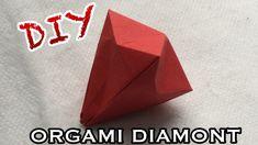 DIY ORGAMI | DIAMANT VOUWEN van PAPIER MAKKELIJK - TUTORIAL ORGAMI (Nederlands) - YouTube Diy Origami, Diys, Container, Diamond, Youtube, Bricolage, Do It Yourself, Diamonds, Homemade