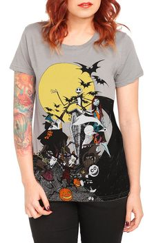 nightmare before christmas hot topic t shirt that I NEED IN MY LIFE.