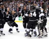 Celebration, Los Angeles Kings in Stanley Cup Final Game 6 on 6/11/2012