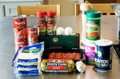 """Ree Drummond / The Pioneer Woman, """"The Best Lasagna Ever"""" The Pioneer Woman's take is meaty and tomato-y (?) using some really surprising ingredients including Kraft Parmesan cheese – you know, the stuff in the green canister. Pioneer Woman Lasagna, Pioneer Woman Recipes, Pioneer Women, Pasta Recipes, Cooking Recipes, Beef Recipes, Lasagna Recipes, Recipies, Food Recipes"""