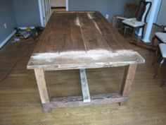Rustic Farmhouse Dining Room Tables how to make a diy farmhouse dining room table: restoration