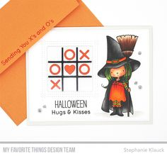 X's and O's Card Kit, Witch Way Is the Candy? stamp set and Die-namics - Julie Dinn #mftstamps