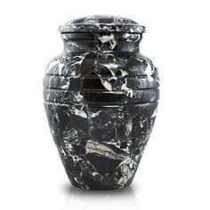 Obsidian Marble Cremation Urn