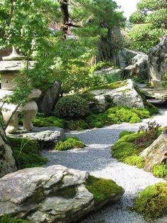 日本庭園 ~枯山水 苔庭:Japanese garden - karesansui Kokeniwa #Japanesegardens