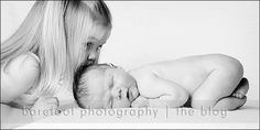 Newborn and sibling by tammy