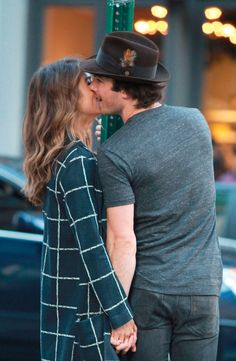 Nikki Reed and Ian Somerhalder look adorable smooching in New York