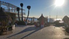 Winter beach Merry xmas